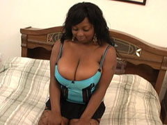 Long haired ebony amateur deepthroating a hard prick. Ms Panther