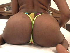 Big assed ghetto ho on her knees sucking cock and lovin it. Nyeema Knoxxx
