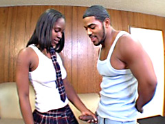 Cute black chick gets creampied. Roxy Reynolds.