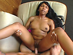 Black snatch filled with cream. Roxy Reynolds.