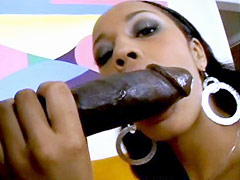Juicy black pussy fucked by black meat monster. Misty Stone