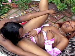 Round bottomed ebony lesbians making out in the backyard. Skyy Black & Unique La Sage , watch free..