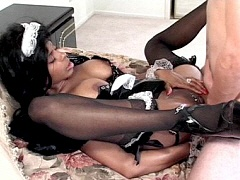 A big titted black babe nailed in several different ways. Sirena Lewis, watch free porn video.