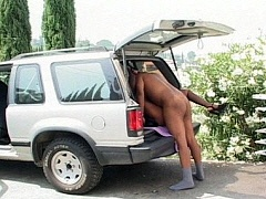 Round assed ghetto girl rocking a cock in the back of an SUV. Monie Love, watch free porn video.