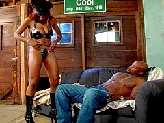 A sexy ebony slut riding her mans big black dick. Alana Play, watch free porn video.