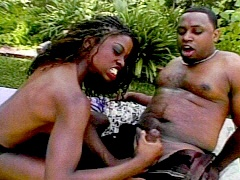 Feisty black hottie giving a handjob to be remembered. Monique, watch free porn video.