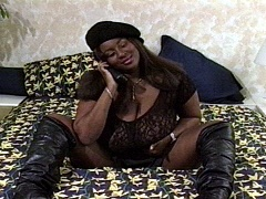 A big tittied black woman getting her pussy fucked. Janiss, watch free porn video.