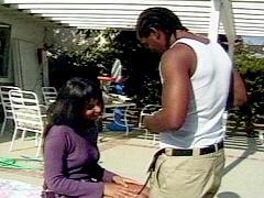 Black skinned amateur sucking off her ghetto boyfriend. Tina Burner, watch free porn video.
