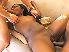 Maui Kane spilled cum from penis on gorgeous ebony butt