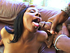Ms Platinum grabbed and swallowed two huge dark pricks