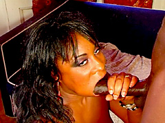 Big assed black slut sucking and fucking with dick. Karma Storm