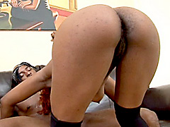 Redhead black girl having her pussy fucked hard. Renae