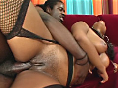 Hot black massive jugg slut fucks a cock. Bambi