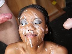 Black porn gang bang video. Porn star name - Nina Devon