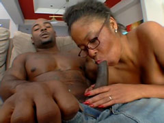 Black cock facefuck big busty ebony milf and bang her hairy cunt