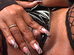 Sexy ebony slut assfucked by gigantic black dick