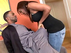 Big boobs ebony tute hard assfucked by big black snake