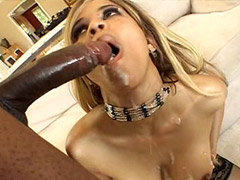 Blonde ebony tute in black stockings get deep penetrated