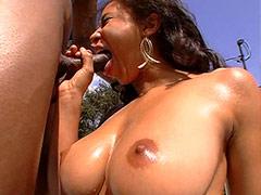 Big black dong anal screwing huge ebony anal hole