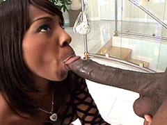 Huge black cock fuck ebony whore in extreme pose