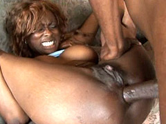 African big cock face fuck and anal cute ebony tute