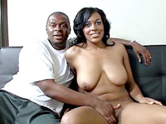 Ebony brotha drilled shaved cunt ebony milf and cum on tits