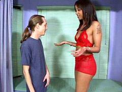 Ebony slut gets interracial cocks hardcore penetrated