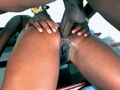 Perky boobed ebony chick love when her ass nailed by bid cock