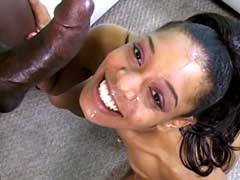Ebony stretches the feet far every which way for big dick pound