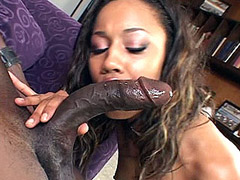 Ebony plays with big cock and cunt fucking in bar