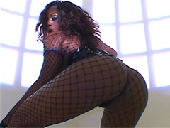 Jada Fire in sexual black stokings