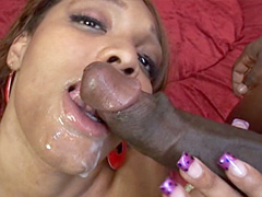 Busty Blu Diamond, gets double penetration by a big dicks