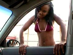 Juicy tits ebony teen hard fucked by black dude with big rod