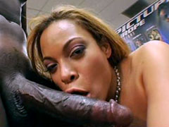 Ebony model with big juicy butts takes big black dick
