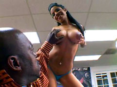 Big titted ebony Havana Ginger pussy drilled big monster black dicks