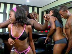 Cute young ebony girls gets fucked after hot dance