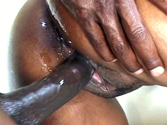 Curvy ebony whore Jayden takes big dick in her snatch to end