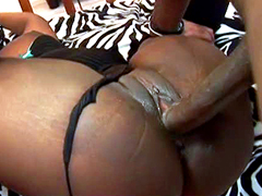 Big ass black girl Hershey takes huge cock on video