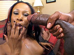 Gigantic black 24 inch cock in sexy ebony chick
