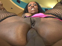 Big tits ebony babe gets fucked hard in big ass and facial cum