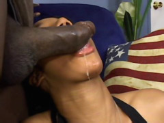 Ebony cock facefuck 18 years old black babe and bang her asshole