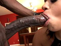24 inch black cock hard fucked shaved pussy hot ebony chick