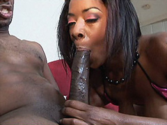 African chick fucked by 24 inch cock and jizzed