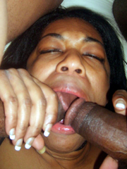 Two black cock to ebony throat.