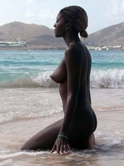 Sexy ebony bitches on the beach.