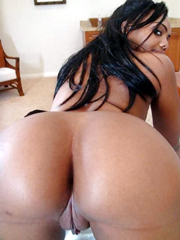 Perfect round ebony amateur asses and booties