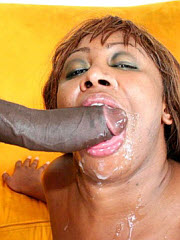 Thick chunky black milf with a big ass gets fucked hard by..
