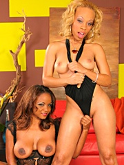 Melrose Foxxx and Sinnamon Love got the best of both worlds today: some lesbo loving and fondling,..