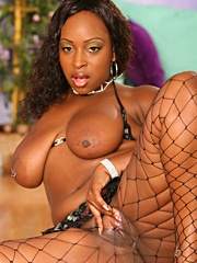 Skyy Black is on the attack and her ass is busting loose from the fishnets we tried to trap it in...