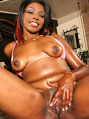 Aymee Austynn is so greasy from all the lotion we slathered on her phat azz that she has a hard..